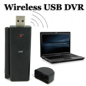 Wireless USB DVR Support 4-channel 2.4GHz Wireless Video and Audio